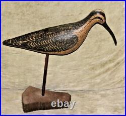 Rare Wek Mfa Will Kirkpatrick Hand-carved Wooden Decoy Bird W Wood Base