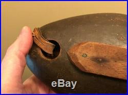 Rare antique Stevens Brothers blue bill antique duck decoy Weedsport NY hunting