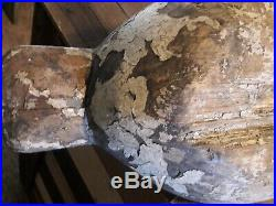 Rare c1900 George Waterfield Canada Goose Decoy G Brand Knotts Island, NC VA