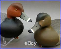 Redhead Duck Decoy Matched Pair Delaware River Rick Brown Brick Township Nj