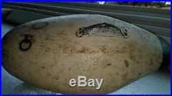 SIGNED 1948 Madison Mitchell Scaup Bluebill Drake Decoy Duck Goose Shorebird