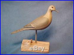 Scarce Harry V Shourds, Seaville Nj, Morning Dove Decoy, Full Size Signed, Dated