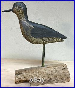 Shorebird Carved Wooden Decoy