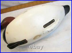 Signed Butch Parker Wooden Canvasback Drake Duck Decoy Hunting Bird Holtwood PA
