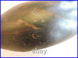 Snakey Head Prem. Black Duck Mason Factory -mackey Collection Decoy