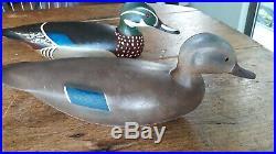 Spectacular Mint Pr 1970s Hurley Conklin Swimming Woodduck Duck Decoys Decoy