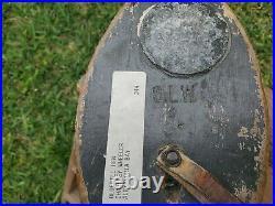 Stanley L Woodman Blue Bill Hen Decoy, ca 1920, 80% original with some overpaint