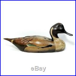 TOM TABER WOOD NORTHERN PINTAIL DUCK DECOY. Signed