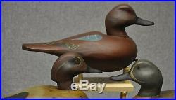 TRIO of TEAL East Coast duck decoy decoys cinnamon, blue-wing, green-wing teal