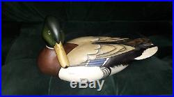 Tom Taber Ducks Unlimited Signed Duck Decoy Encore Collection Edition Figurine