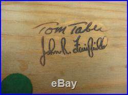 Tom Taber Wood Carved Swan Decoy Glass Eyes Signed