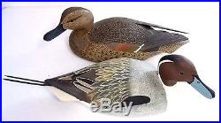 Two Large Vintage Wood Duck Decoy By William H. Cranmer Folk Art Signed 1968