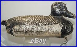 ULTRA RARE Antique 1920s 30s JOHN TAX Osakis MN Bluebill Duck Hunting Decoy Lure