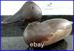Very Nice Original Mason Glass Eye Hen Canvasback Wood Duck Decoy