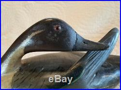 Very Nice Vintage Hollow Carved Illinois River Pintail Decoy