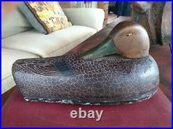 Very Rare 1942 Herters Sleeper Black Duck Decoy