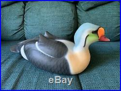 Very Rare! . Ducks Unlimited King Eider Wood-carved Medallion Decoy