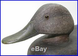 Vintage 1960's Duck Decoy Glass Eyes Made By Wood Shop Teacher Binghamton, Ny