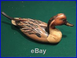 Vintage 1982 Duck Decoy TOM TABER HERSEY KYLE JR Medallion Series