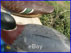 Vintage Antique Mason Duck Decoy Mason Pair