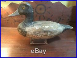 Vintage Antique Old Wooden Working Early Illinois River Duck Decoy