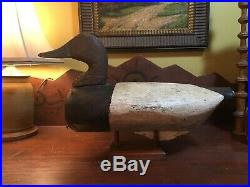 Vintage Antique Old Wooden Working Early North Carolina Canvasback Duck Decoy
