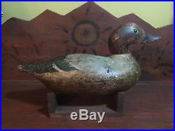 Vintage Antique Old Wooden Working Factory Early Dodge/Mason Teal Duck Decoys