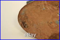 Vintage Antique Rare Baker Tin Metal Hand Painted Duck Decoy Sculpture Figurine