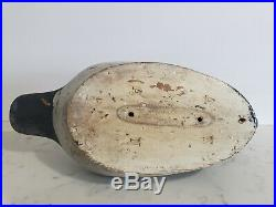 Vintage Antique Wooden Duck Decoy Large Glass Eyes