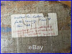 Vintage Ben Schmidt St Clair Flats Mallard Hen Hollow Decoy Duck Carved Feathers