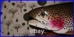 Vintage Big Sky Carvers William Bill Reel Rainbow Trout Fish Decoy Carving RARE