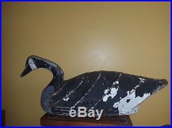 Vintage Canvas/Wire Swimmer Goose Decoy Churches Island North Carolina NC VA