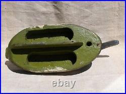 Vintage Canvasback Duck Decoy, semi-hollow, keel, low head, no eyes