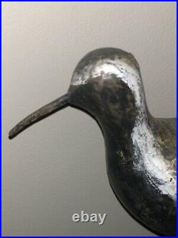 Vintage Carved Black Bellied Plover Wood Bird Shorebird Decoy Nail Bill