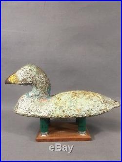 Vintage Cast Iron Unique Maine/nova Scotia Eider Duck Sink Box Decoy Folky Art
