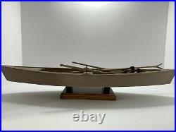 Vintage Chesapeake Railbird Skiff Hunting Boat Model Replica Plus Duck Decoys