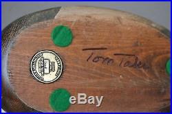 Vintage DU 1984-85 Horse Redhead Duck Decoy Tom Taber Ltd Ed DUCKS UNLIMITED
