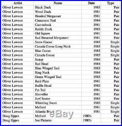 Vintage Decoy Collection Oliver Lawson-Ring Neck 1984
