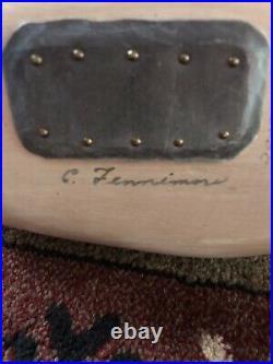 Vintage Delaware River Clarence Fennimore Preening Pintail Drake Duck Decoy