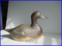 Vintage Duck Decoy Bluebill Hen By Gust Nelow 1874-1961 Wisconsin