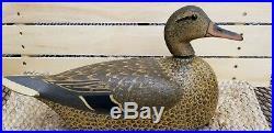 Vintage Duck Decoy Rare Ohnmact Decoy Indiana