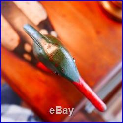 Vintage Duck Decoys Bob Biddle, Red Breasted Merganser Wood