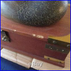 Vintage Duck Hunting Decoy Lamp Storage Compartment Box
