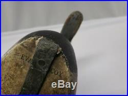 Vintage Evans Bluebill Duck Decoy Original Paint Working Bird Glass Eyes