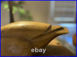 Vintage Extra Large DUCK Swan DECOY Hand Carved Hollow WOOD