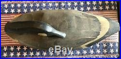 Vintage Hand Carved Canada Goose Sleeper Decoy Used on Connecticut River Duck