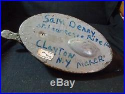 Vintage Hen Bluebill Decoy pre 1950 by Sam Denny Clayton, New York