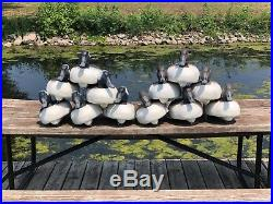 Vintage Herters Duck Decoys Mixed Species 72 & 63 Mainly Drakes Sharp! (301)
