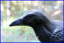 Vintage Herters Model Perfect True to Life Crow Decoy Chicago Novelty Pre-WWII