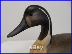 Vintage Hollow Carved. Pintail Drake Wood Duck Decoy By Ken Kirby 2010